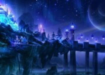 fantasy landscapes castles night purple fantasy art magic 1920x1200 wallpaper_www.wallpaperhi.co.jpg