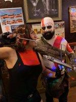 Halloween 2019 as elektra vs kratos.jpg